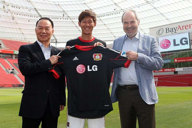 Heung-min Son unveiling at Bayer Leverkusen. Image used under the Creative Commons.
